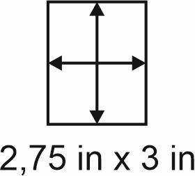 2mm zöllige Holzbase 2,75 x 3