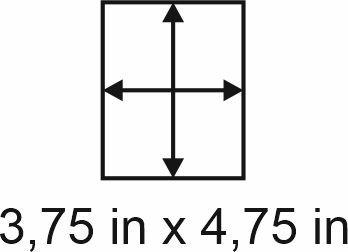 3mm zöllige Holzbase 3,75 x 4,75