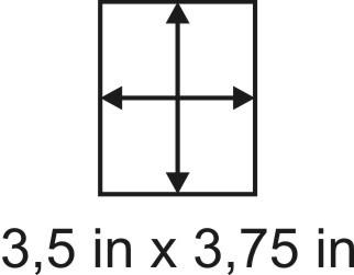 2mm zöllige Holzbase 3,5 x 3,75