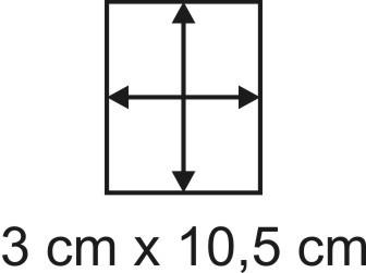 Eckbase 3x10,5 cm, 3mm dick