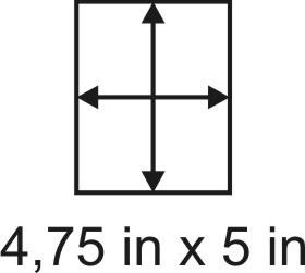 3mm zöllige Holzbase 4,75 x 5
